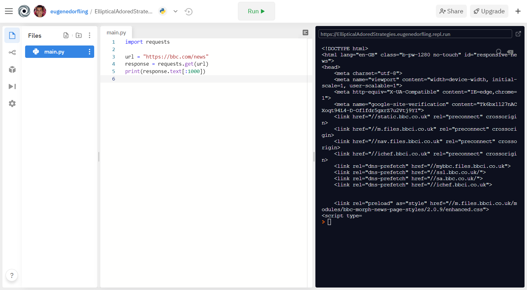 Image 6: Downloading a single page using Python