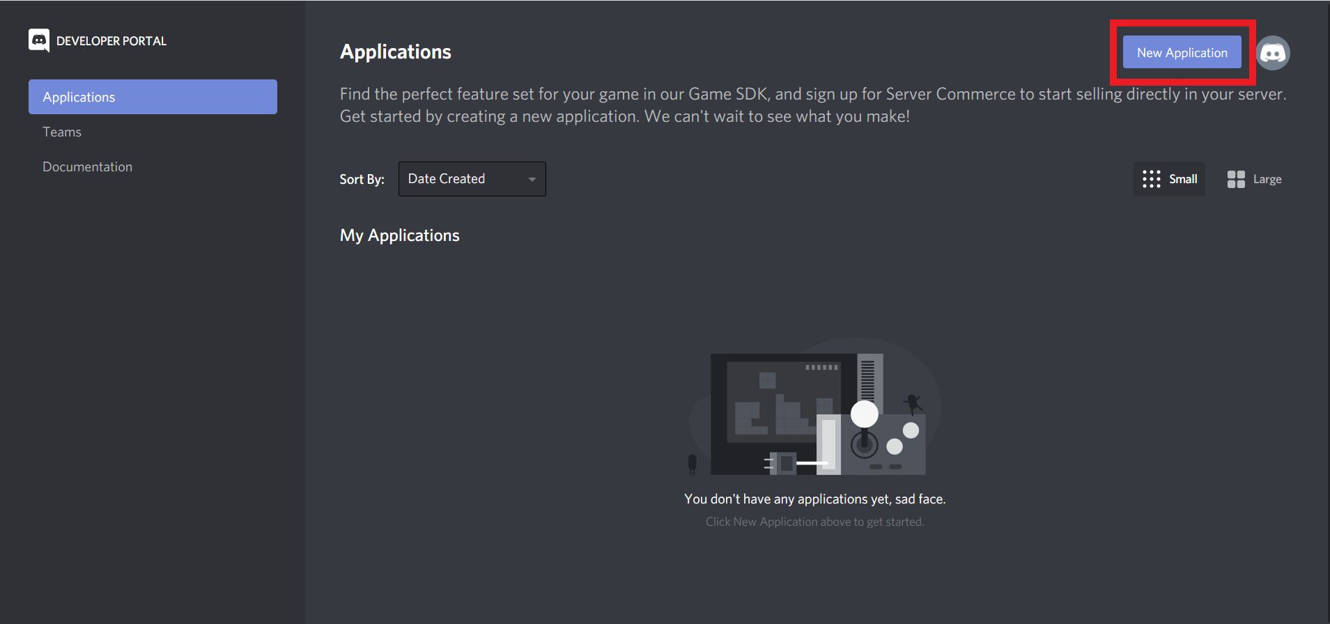 Image: 1 Creating a new Discord application