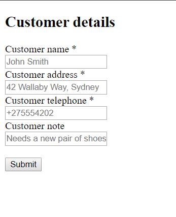 Image: 6 Customer Details
